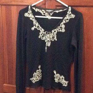 Gorgeous Betsey Johnson Beaded Sweater